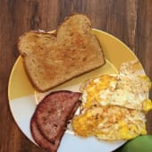 Two Eggs with Ham & Toast