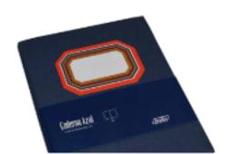 Cad.Azul 96f 16,5x21 Elast.Vm Liso