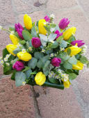 Bouquet tulipani ed eucalipto