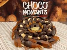 Frutta ricoperta di cioccolato fondente 70% - vassoio assor. da 1 Kg