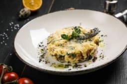 Австрийская паста с грибами и шпинатом