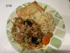 C10 - Arroz Chao Chao com Chop Suey de Frango + 1 Crepe Chinês