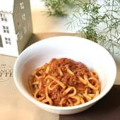 Spaghettoni al ragù biancolatte