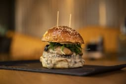 Mushroom & truffle burger