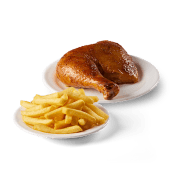 Cuarto de pollo asado