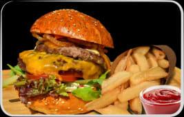 Meniu Dublu Cheeseburger