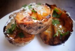 Cartofi rascopti cu usturoi