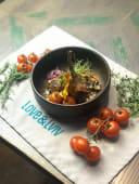 Каре телятини на кремі з батату з овочами-гриль (250г)