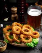 Цибулеві кільця з часниковим соусом (200/50г)