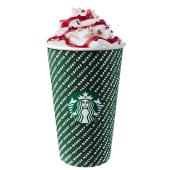 Cranberry white mocha latte