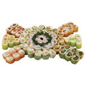 Menu friendly fresh - 72 pièces :6Haru saumon,6 Haru roquette saumon