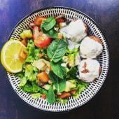 La véggie falafel salade