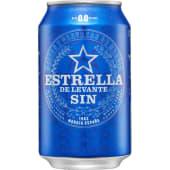 Cerveza Estrella de Levante sin 0,0 en lata (330 ml.)
