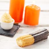 Choco churros golosos de crema vainilla