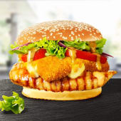 Cheesy Burger de pui