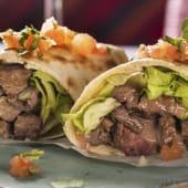 Burrito arrachera de ternera