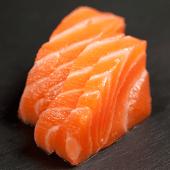 Sashimi de salmón (4 pzs.)