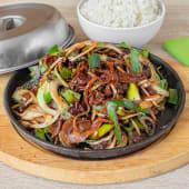 Mongolsko meso, riža