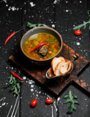 Острый зеленый суп