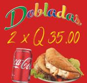 2 dobladas + Coca-Cola (330 ml.)