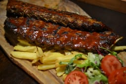 BBQ full rack ribs + patate fritte