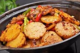 Картофель на жаровне