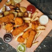 Tablita fish & Chips (tablita de mariscos)