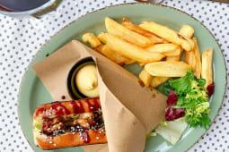 Сендвіч з тигровими креветками гриль