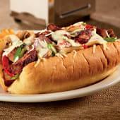 Sándwich prime rib Philly melt