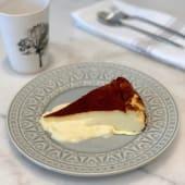 Tarta de queso fundente (ración)