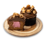 Cupcake vanilla caramel cream