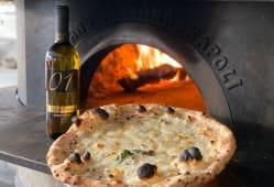 Menú  pizza, bebida y postre