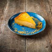 Tarta de queso y calabaza de horno