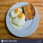 Two Eggs with Toast