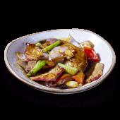 Kam lu wantán con arroz chaufa