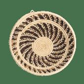 White/Brown Banana Weaved Basket