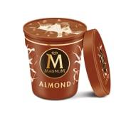 Helado Magnum de vainilla con chocolate y almendra grande (440 ml.)