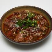 #67 Ternera en rodajas hervida con  salsa de chile (picante)