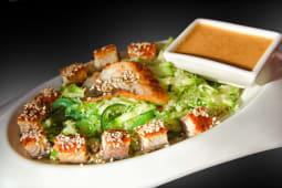 Теплий салат з кус-кусом й вугрем (290г)