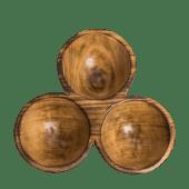 Triplet Jacaranda Wooden Bowl
