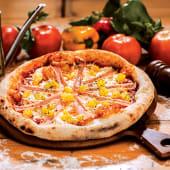 Pizza hawaii (6 porciones) (25% de descuento)
