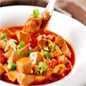 Mapo doufu con salsa picante