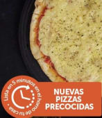 4 Pizzas Grandes Muzza Pre-Cocidas