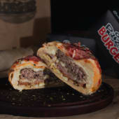Pizza burger de carne