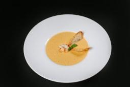 Supă cremă de porumb si creveti