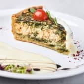 Кіш з лососем та шпинатом (145/75г)