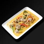 Boeuf au curry rouge et lait de coco