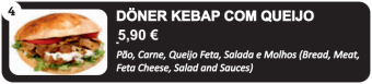 Doner Kebab com Queijo