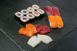 Combo sushi y sashimi W8 (18 pzas.)
