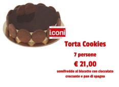 Torta cookies grande per 7 persone